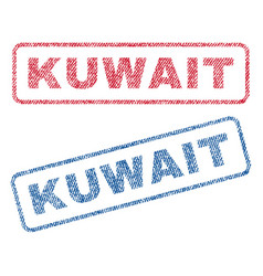 Kuwait textile stamps vector
