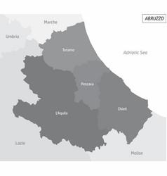 Abruzzo grayscale map vector