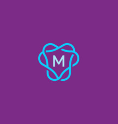 abstract letter m logo icon design modern minimal vector image