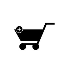 add to cart icon symbol vector image
