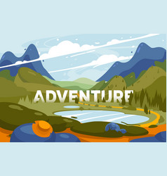 adventure in mountains discovery vector image