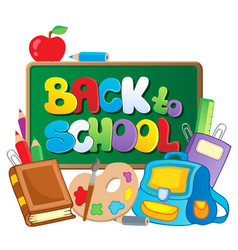 back to school thematic image 2 vector image