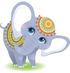Baelephant isolated on white background vector