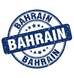 Bahrain blue grunge round vintage rubber stamp vector