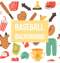 baseball seamless background vector image