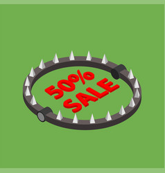 Bear trap with red word sale vector