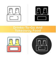 Beer to go icon vector