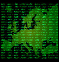 binary code europe map concept design green vector image