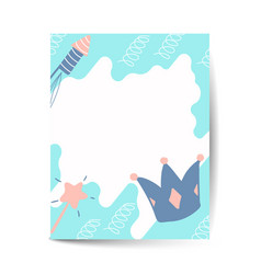 Birthday card design with crown vector