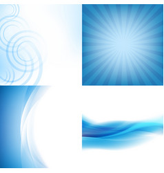Blue backgrounds set vector