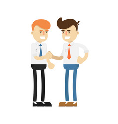 business meeting concept with happy men vector image