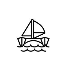 catamaran icon line style icon vector image