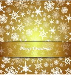 Christmas Card Snowflake Gold Invitation menu vector