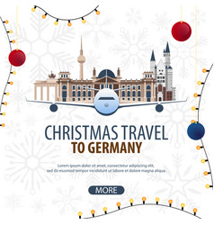 Christmas travel to germany winter travel vector