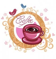 Coffee love banner vector