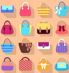 Collection of Retro Woman Bags vector image
