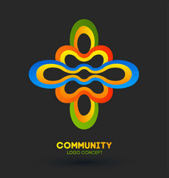 community care logo logo design company vector image