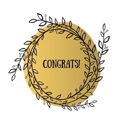 Congrats wreath vector