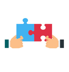 Cooperation in business concept vector