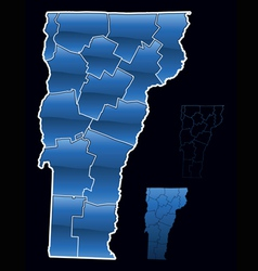 counties of vermont vector image vector image