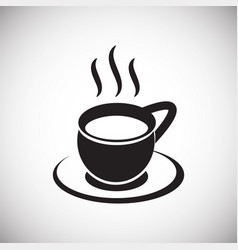 Cup with hot tea on white background vector