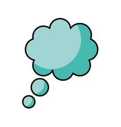 dreams cloud isolated icon vector image