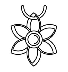 Flower necklace icon outline style vector