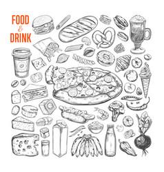 Food and drink big set 1 vector