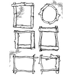 frames of branches 2 vector image