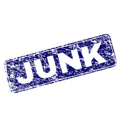Grunge junk framed rounded rectangle stamp vector