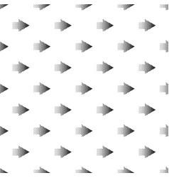 halftone rigth arrow icon simple style vector image
