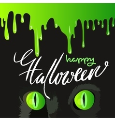 Happy Halloween Black Cat Cute Design vector