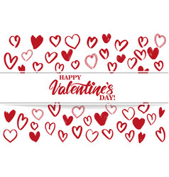 happy valentine s day text on the background of vector image