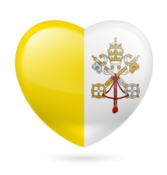 Heart icon of Vatican City vector image