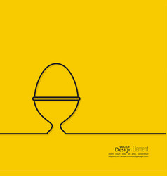 icon hard-boiled eggs vector image