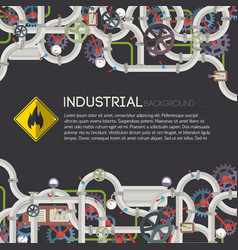 industrial manufacturing poster vector image
