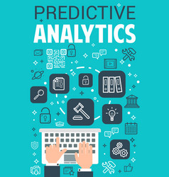 Internet predictive analytics poster vector
