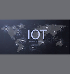 Internet things iot ict icon innovation vector