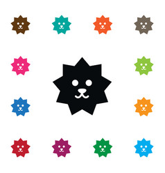 Isolated crew cut icon hedgehog elemen vector
