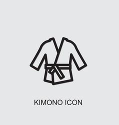 Kimono icon vector