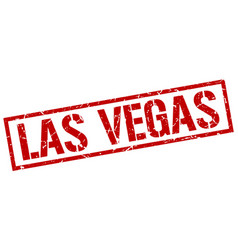 Las vegas red square stamp vector