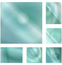 Light teal gradient abstract background set vector