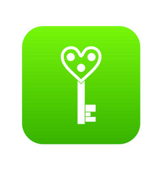 love key icon digital green vector image