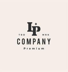 Lp letter mark initial monogram hipster vintage vector