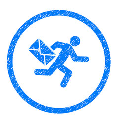 Mail courier rounded grainy icon vector