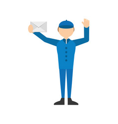 man post mail envelope letter vector image