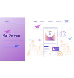 mobile email service modern flat design concept vector image