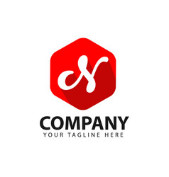 n company logo template design vector image