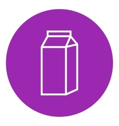 Packaged dairy product line icon vector