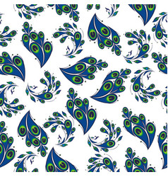 pattern with peacock feathers vector image